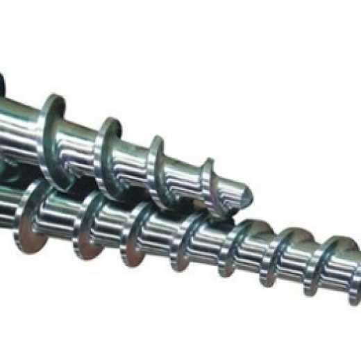 Rubber screw barrel