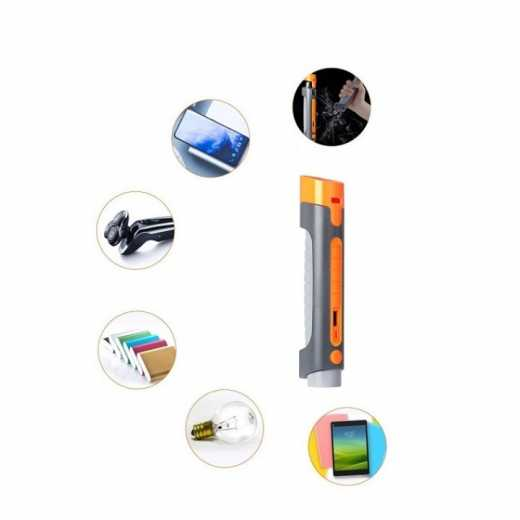 Portable Vehicle Tools 5 in 1 emergency flashlight safety hammer rechargeable with power bank