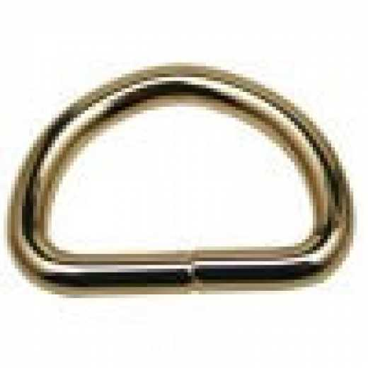 Steel D-Ring Gold Colour