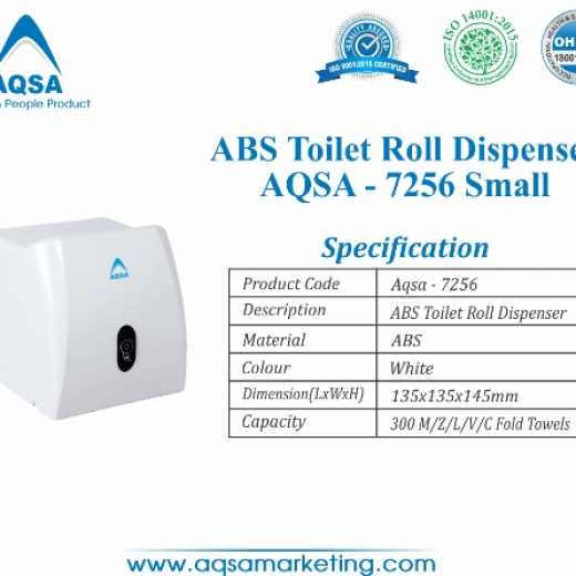 ABS Toilet Roll Dispensers Small (AQSA – 7256 )