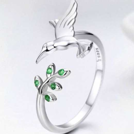 Hummingbird Design Sterling silver jewelry rings