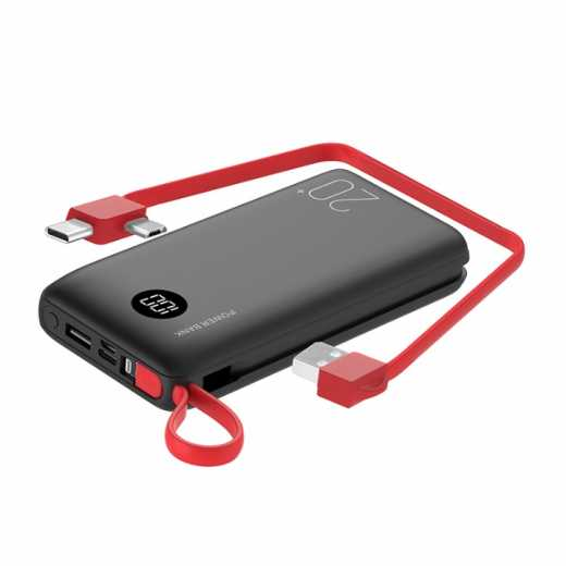 20000mAh High Capacity Power Banks Easy Carry With Type-C Cables Power Bank for Smartphone