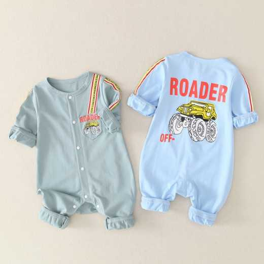 Ziluotong BABY BODYSUIT 0-3-6 spring and autumn hatsuit climbing suit 9 newborn clothes lovely boy baby going out