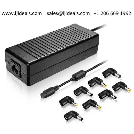Ljideals-universal Laptop Adapter 45w 65w 70w 90w 120w With 8 Dc Tip-notebook power charger ac to dc power supply