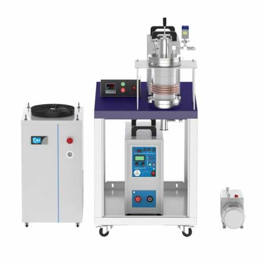 15KW 1700℃ Max. Vacuum Induction Heater with Material Feeding Ante-chamber and Melt Stirring Mechanism