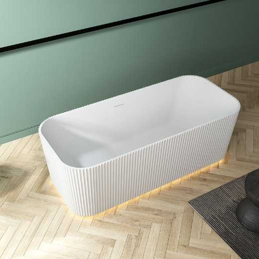 High-end Best Quality CE New Unique Design Modern Soaking AcrylicFreestandingBathtub With Lights Made In China Professional Manufacturer Supplier