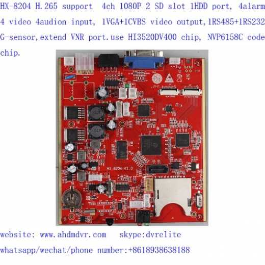 hi3520dv400 MDVR development board with NVP6158C video codec chip mobile dvr board support HDD and SD 5G 4G GPS WIFI
