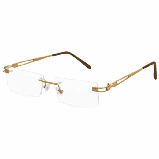 Pure Solid Gold Optical Frames in 18 Carat  Rectangle Shape  - WDZ