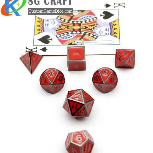 Manufacturer 2019 new paint metal custom polyhedron game dice