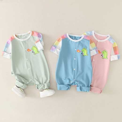 Ziluotong baby clothes 3-6-september spring and autumn boys' one piece clothes 5 cute and cute spring clothes long sleeve Rompers