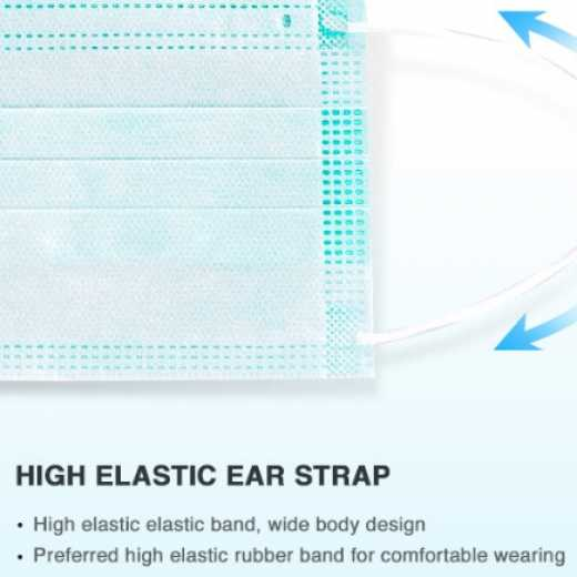 Disposable 3ply Face Mask