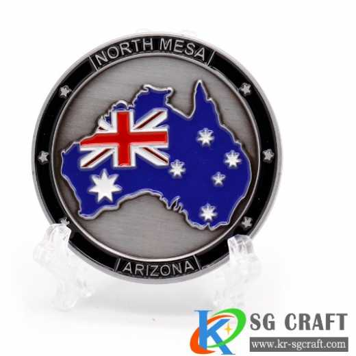 3D Challenge Coin with Soft Enamel
