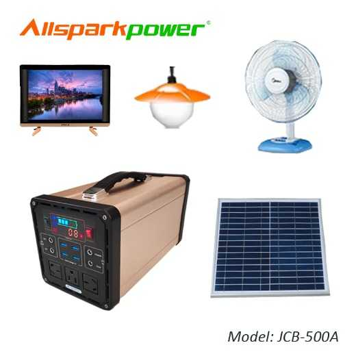 Factory Popular Wholesale Best 500W Solar Generator Portable Solar Power System with Solar Panel