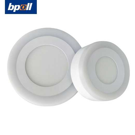 BPOLL indoor round ceiling lamp 3+3w, 6+3W, 12+4W, 18+6w two-color segmented LED panel light