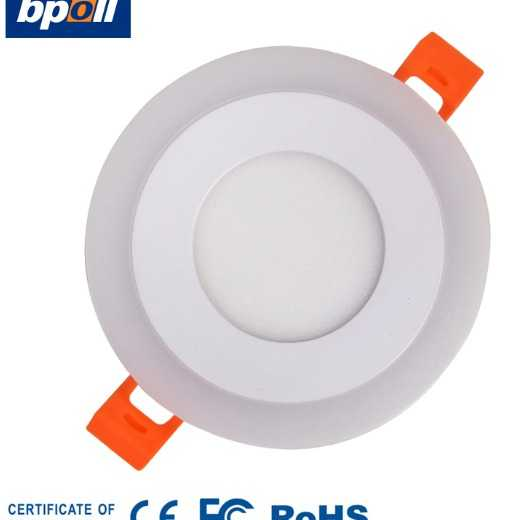 2020 Hot sales 3+3w/6+3w/12+4w/18+6w led promotion 3 step dimmable recessed round led panel light