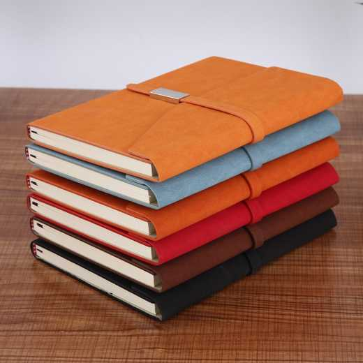 Hande Book Conference Paperback A5 Notebook with buckle, Business Three Folds, Notebook with core, Office Logo, Customized Book, Direct sales from manufacturers