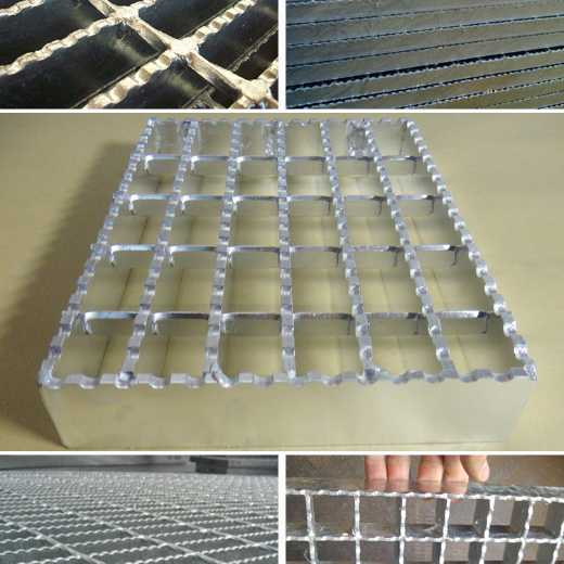 Hot dipped galvanized steel grating/flat bar grating/serrated bar grating