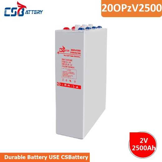 Csbattery 2V2500ah Wholse Battery for Sprayer-Pump/Powered-Heater/Generator/Submersible-Pumps/Vs: Ri
