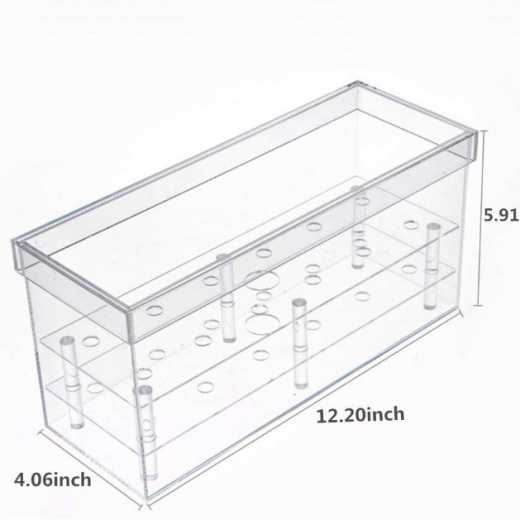 Clear waterproof acrylic rectangle flower gift boxes with lid