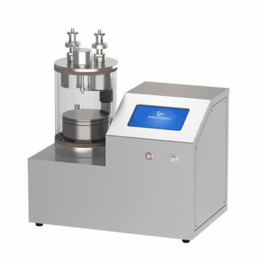 Dual heads plasma sputtering coater with rotary heating sample stage