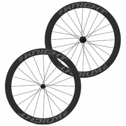KNIGHT COMPOSITES 50 TUBELESS AERO CARBON CLINCHER R45 WHEELSET - (CV Fastracycles)