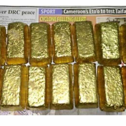 We offer gold bars  and nugget